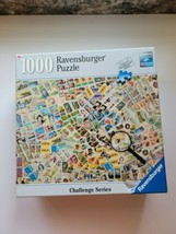 Ravensburger 1000 Pc Stamp Challenge Jigsaw Puzzle, Difficult! - $22.58