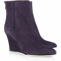 Jimmy Choo Women's Purple Mayor Suede Wedge Boots Shoes size 39.5 US 9.5 $965 - $399.99