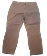 "NWT CJ by Cookie Johnson ""Believe"" Women's Size 12 Tan Cropped Leg Jeans - $29.65"