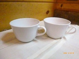 """Corelle Solid White Lot of 2 Coffee Cups 3.75"""" Diameter 2 5/8"""" Tall # 22... - $6.79"""