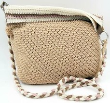 The Sak Crochet Large Hobo women's Beige Shoulder/Crossbody bag - $52.24
