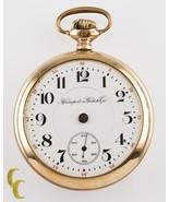 Gold Filled Hampden Watch Co. John Hancock Open Face Pocket Watch 18S 21... - $200.47