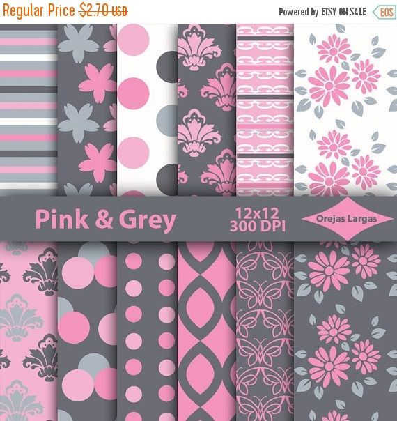 Pink Digital Paper Scrapbook Paper Floral And 13 Similar Items