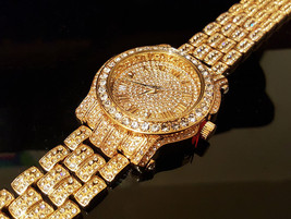 Men Hip Hop Iced out  Pave Bling Simulated Diamond Rapper Watch - $23.44 CAD