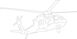 "Blackhawk Helicopter Front Facing 20"" wide  Metal Wall Art Decor - $29.69"
