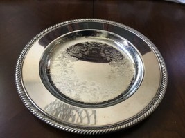 VTG W.M. Rogers Silver Plated Serving Dish Detailed Etchings Hallmarked ... - $41.58