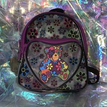 90sVTG Lisa Frank EXC COND BLOSSOM BEAR MINI BACK PACK TRANSPARENT *SEND OFFERS*