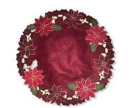 "10 16"" round Homewear Poinesettia wreath felt placemats - $39.60"