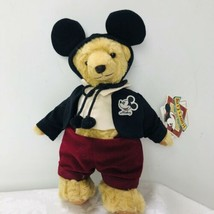 Disney Teddys Club Jointed Plush Mohair Bear Vintage Japan MICKEY MOUSE w Tags - $24.70