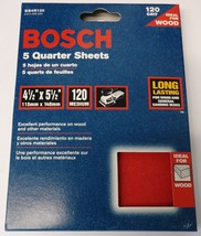 "Bosch SS4R120 5 Piece 120 Grit 4-1/4"" x 5-1/2"" General Purpose Sanding Sheets - $5.94"