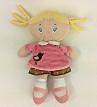 "Kids Preferred Baby Doll Blonde Bird Pink Brown Blue Eyes Plush Stuffed 10"" - $9.74"