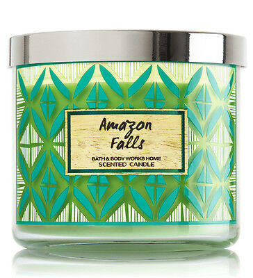 Bath & Body Works Amazon Falls Three Wick 14.5 Ounces Scented Candle image 4