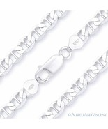 Solid .925 Italy Sterling Silver 8mm Marina Mariner Link Italian Chain B... - $30.88+