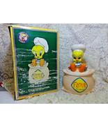1997 Chef Tweety Bird Flour Sack Cookie Jar Canister Looney Tunes WB NIB - $49.99