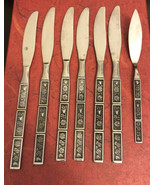 6Northland Spring Fever Pattern Stainless  Flatware Dinner Knives& 1 but... - $34.65
