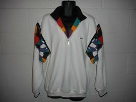 Vintage 80s 90s Head Tennis Racquetball Colorblock 1/4 Zip Sweatshirt XL - $24.99