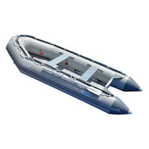 BRIS 1.2mm PVC 14.1ft Inflatable Boat Rescue Raft Power Boat With Free Bimini  image 4