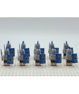 10pcs Medieval Roman Soldiers with Blue Armour Custom Minifigures Toys - $20.99
