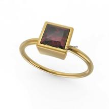 925 Silver Yellow Gold Plated Garnet Hippie Ring Anniversary Gift Fine J... - $578.15