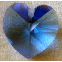 18mm Crystal Heart Hair Jewel image 5