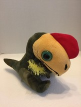 "Plush Wide eyed  Parrott Green Yellow Red Toys Are Us 8"" Tall 9"" Long 2011 - $6.79"