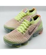 NEW Nike Air Vapormax Flyknit 3 Volt Pink Lime AJ6910-700 Women's Size 12 - $197.99