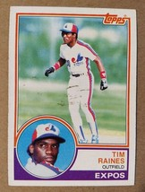 Tim Raines Montreal Expos 1983 Topps #595 - Fast Shipping - $1.73