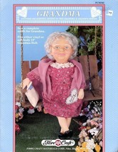 """Grandma 13"""" Doll Outfit Fibre Craft Sewing Pattern Leaflet FCM342 HTF - $8.07"""