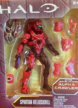 Mattel Halo Alpha Crawler Spartan Helioskrill Red Build A Figure 8+ NISB - $18.99