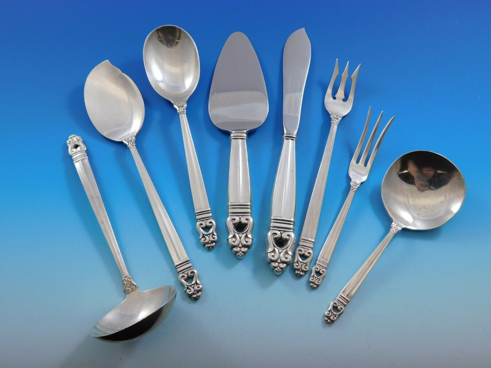 Primary image for Royal Danish by International Sterling Silver Essential Serving Set Small 8-pc
