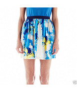 Joe Fresh Print Pull-On Flare Skirt New With Tags Size S, L, XL Msrp $34.00 - $12.99
