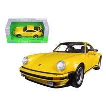 1974 Porsche 911 Turbo 3.0 Yellow 1/24 Diecast Model Car by Welly 24043y - $29.91