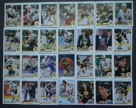 1990-91 Upper Deck UD Boston Bruins Team Set of 28 Hockey Cards - $6.00