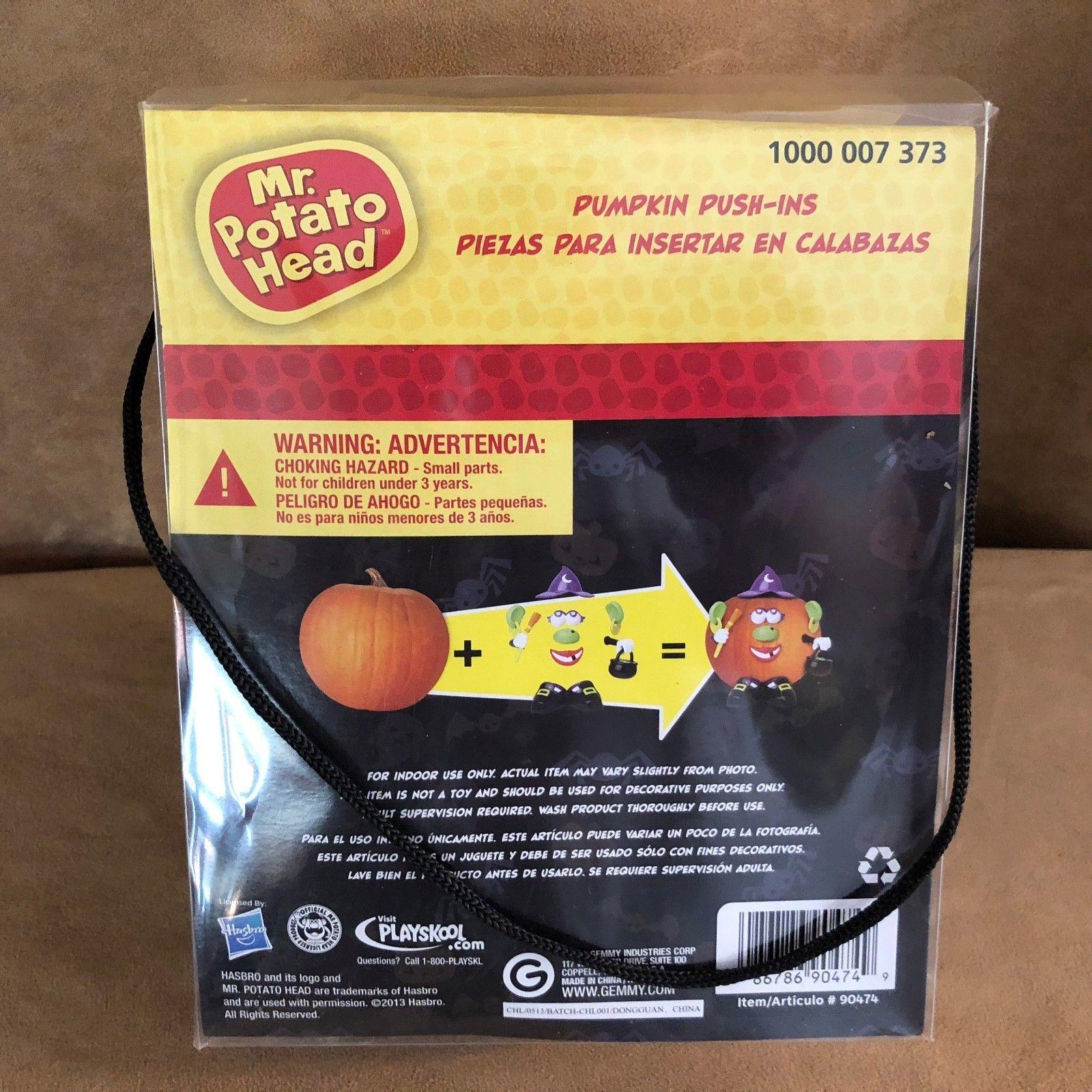 Mr Potato Head Pumpkin Push-Ins Witch Costume Pumpkin Decorating Kit Playskool