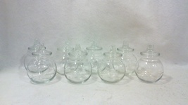 Vintage Crystal Spice or Apothecary Jars-Set of Eight - $199.00