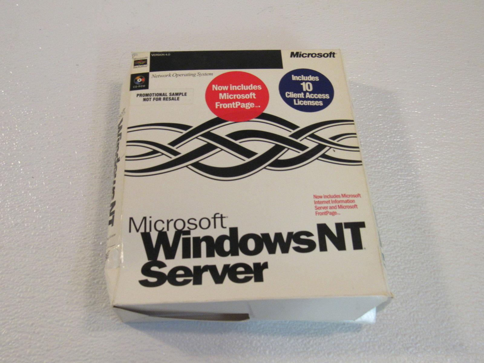 Microsoft Windows NT Server Operating Software 3 Floppy Disk Version 4.0 94339