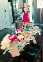 "18"" My Life Doll & Outfits Pajamas Dresses Swimsuit Shoes Pets American Girl - $124.95"