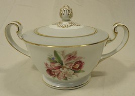 Noritake 5049 Vintage Sugar Bowl with Lid 7 1/2in x 5in x 5in China Gold... - $29.69