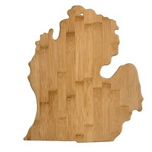 Totally Bamboo 615060-20-7951MI Michigan State Shaped Bamboo Serving And... - £31.52 GBP