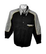 Bombardier ATV Mens Shirt Size M Black Gray Yellow LS or SS Follow No On... - $19.94