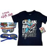 Marvel Captain America Boy T-Shirt (Size: 6) & Avengers Sunglasses(3+) 2... - $13.36