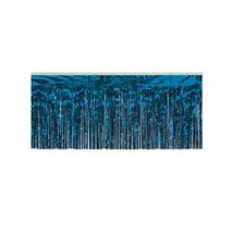 "Beistle Party Decoration 1-Ply FR Metallic Fringe Drape 15"" x 10' Blue -... - $46.65"
