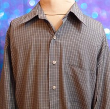 Van Heusen Mens Button Up Long Sleeve Shirt Size Large 16 - 16-1/2 Check... - $18.70
