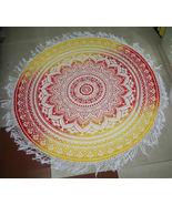 "72"" Round Ombre Round Tapestry Handmade Cotton Yoga Mat  Beach Round She... - $24.98"