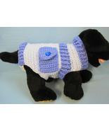 Pet Dog Cat Small Blues Pockets Sweater, Jumper, Coat, Costume Crochet b... - $29.00