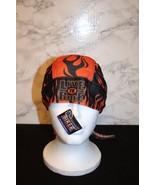 American Biker Doo-Rag Dri-Mesh Black Eagle orange Flames LIVE FREE NEW ... - $22.99