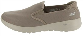 Skechers Go Walk Joy Canvas Slip-On Shoes Shine Taupe 6.5W NEW A302937 - $45.52