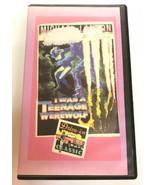 I was a Teenage Werewolf 1957 VHS Tape Horror movie - $14.01