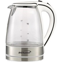 BRENTWOOD KT-1900W Glass Electric Kettle, 1.7 Liter - TWO YEARS (Brentwood) - €41,76 EUR