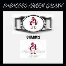 VIRGINIA TECH 2 Shoelace Charm Paracord Bracelet Charm - £1.87 GBP